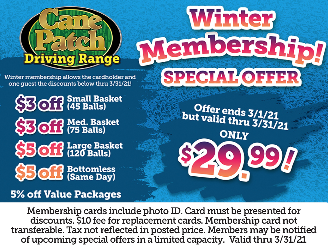 Cane Patch Driving Range Winter Membership